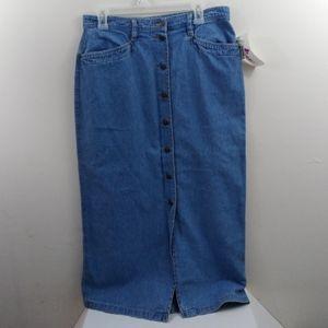 Vintage Liz wear denim pencil skirt 14